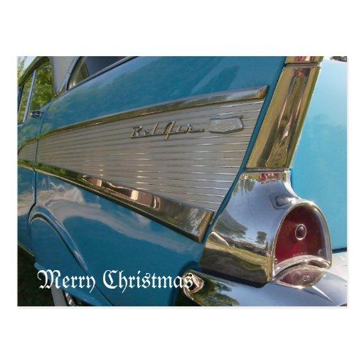 Tarjeta 1957 de las Felices Navidad de la postal d