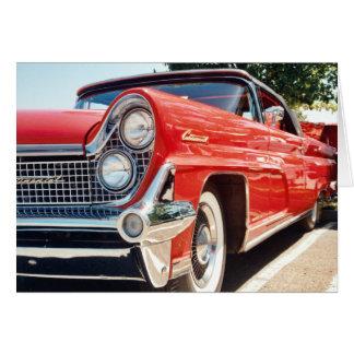 Tarjeta 1959 de felicitación convertible continent