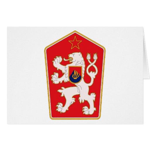 Tarjeta 1960 de felicitación del escudo de armas d