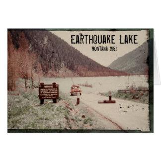 Tarjeta 1961 de felicitación de Montana del lago