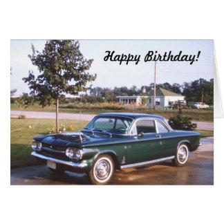 Tarjeta 1963 de felicitación de Chevy Spyder