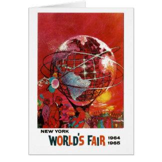 Tarjeta 1964 de la feria de mundo de Nueva York