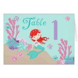 Tarjeta 1 castaño de la tabla de little mermaid