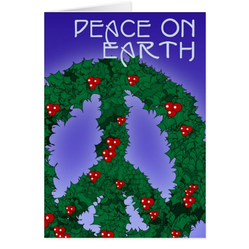 Tarjeta 1 de la guirnalda de la paz