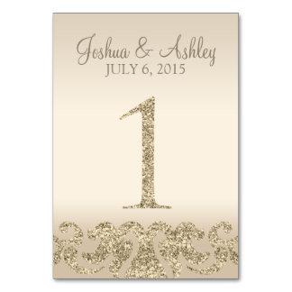 Tarjeta 1 de la Número-Tabla de la tabla del boda