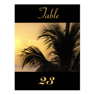Tarjeta 1 del número de la tabla de la puesta del postal