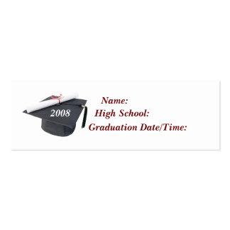 Tarjeta 2008 del perfil de la graduación tarjetas de negocios
