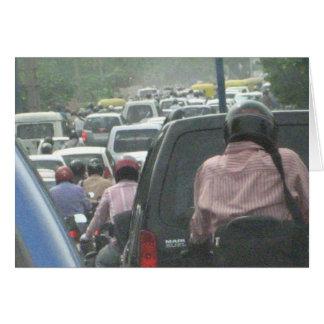 Tarjeta 2008 del tráfico de Delhi