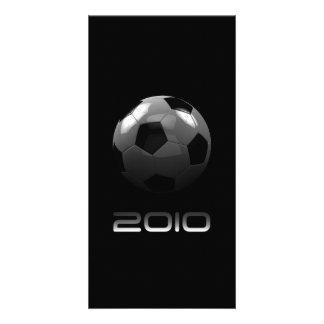 Tarjeta 2010 de la foto del fútbol tarjeta fotografica personalizada