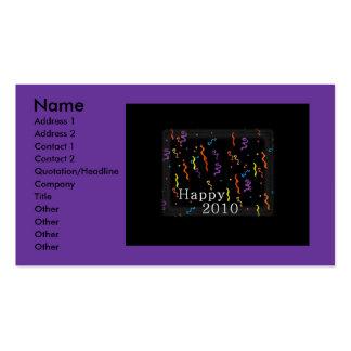 Tarjeta 2010 de visita feliz tarjetas de visita