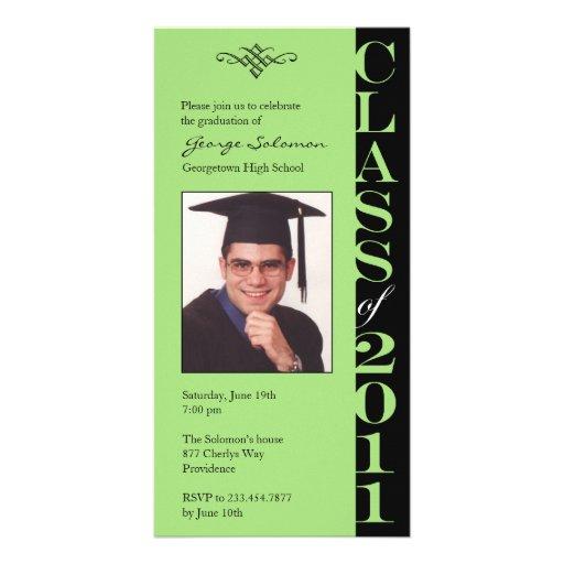 Tarjeta 2011 de la foto de la graduación tarjeta fotográfica