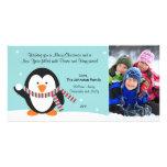 Tarjeta 2011 de la foto del pingüino del navidad tarjeta personal
