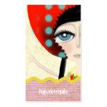 tarjeta 2012 de visita de la textura de la muñeca  plantilla de tarjeta de negocio