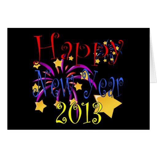 Tarjeta 2013 de felicitación de la Feliz Año Nuevo