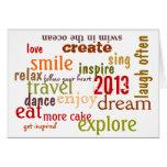 tarjeta 2013 de felicitación inspirada del Año Nue