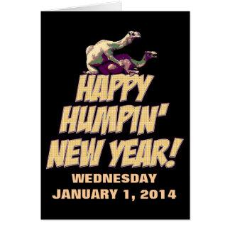 Tarjeta 2014 de felicitación feliz del Año Nuevo d