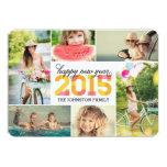 Tarjeta 2015 del día de fiesta del collage de la invitacion personal