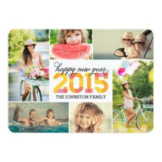 Tarjeta 2015 del día de fiesta del collage de la invitación 12,7 x 17,8 cm