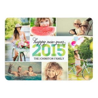 Tarjeta 2015 del día de fiesta del collage de la invitación personalizada