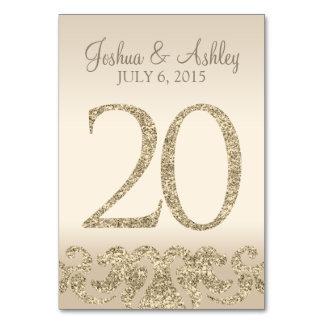 Tarjeta 20 de la Número-Tabla de la tabla del boda