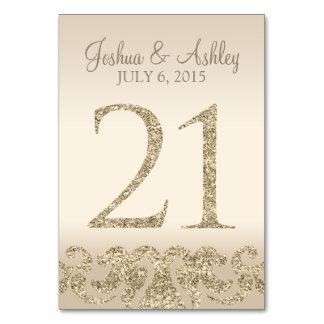 Tarjeta 21 de la Número-Tabla de la tabla del boda