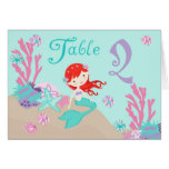 Tarjeta 2 castaños de la tabla de little mermaid