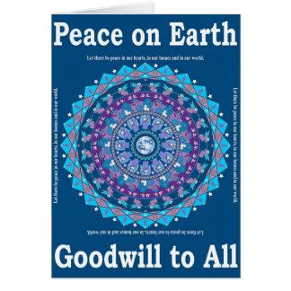 Tarjeta 2 de la mandala de la paz del navidad