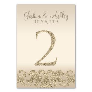 Tarjeta 2 de la Número-Tabla de la tabla del boda