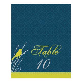 """Tarjeta 2 de la tabla de la elegancia de la caída folleto 4.5"""" x 5.6"""""""