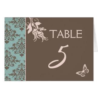 Tarjeta 2 de la tabla del damasco del otoño