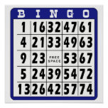 Tarjeta 2 del bingo poster