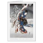 Tarjeta 2 del geisha de la nieve
