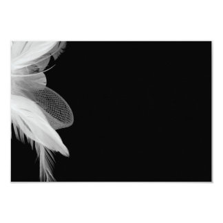 """Tarjeta 2 del recinto de las plumas blancas 3.5x5 invitación 3.5"""" x 5"""""""