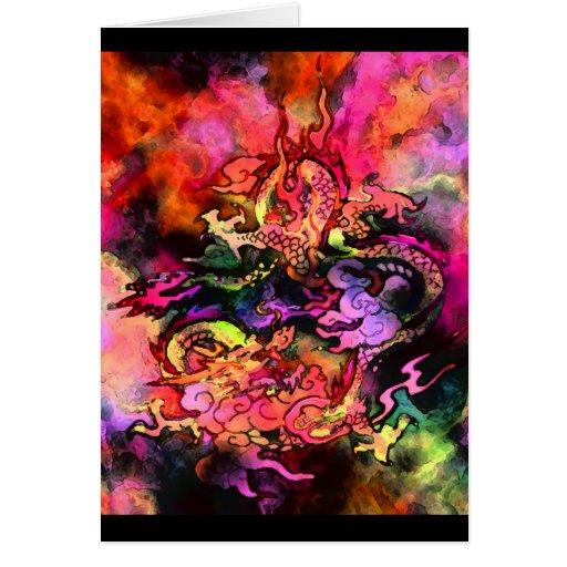 Tarjeta #2 (espacio en blanco) del dragón de la ac