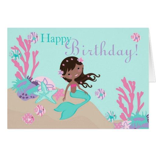 Tarjeta 2C AA de little mermaid