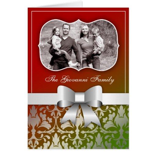 tarjeta 311-Christmas presente con el arco de plat