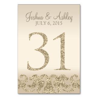 Tarjeta 31 de la Número-Tabla de la tabla del boda