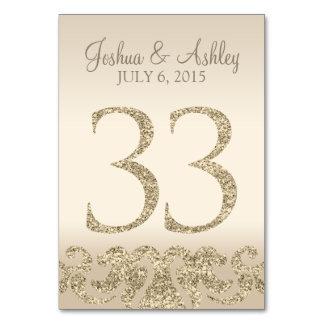 Tarjeta 33 de la Número-Tabla de la tabla del boda