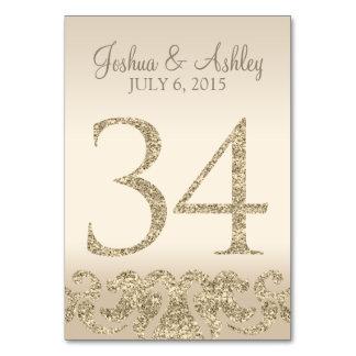 Tarjeta 34 de la Número-Tabla de la tabla del boda