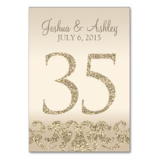 Tarjeta 35 de la Número-Tabla de la tabla del boda