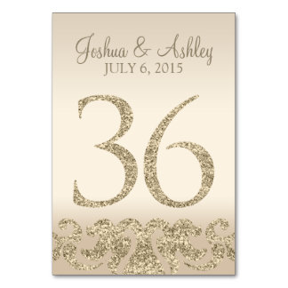 Tarjeta 36 de la Número-Tabla de la tabla del boda