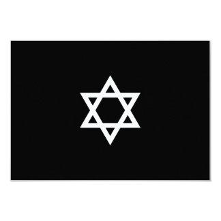 """Tarjeta 3,5 x 5 de Mitzvah RSVP de la barra/del Invitación 3.5"""" X 5"""""""