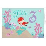 Tarjeta 3 castaños de la tabla de little mermaid