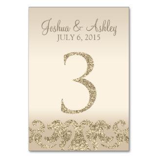 Tarjeta 3 de la Número-Tabla de la tabla del boda