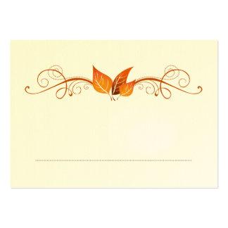 Tarjeta 3 del lugar del boda del follaje de otoño tarjetas de visita grandes