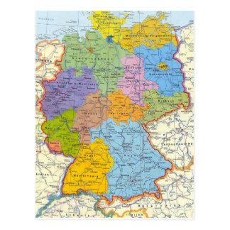Tarjeta 3 del mapa de Alemania Tarjetas Postales