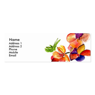 Tarjeta 3 del perfil de la diversión de la orquíde tarjeta personal