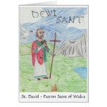 Tarjeta 3ro Pl del día de St David. WSCO