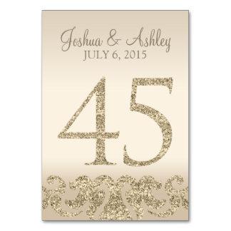 Tarjeta 45 de la Número-Tabla de la tabla del boda