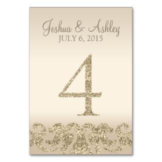 Tarjeta 4 de la Número-Tabla de la tabla del boda